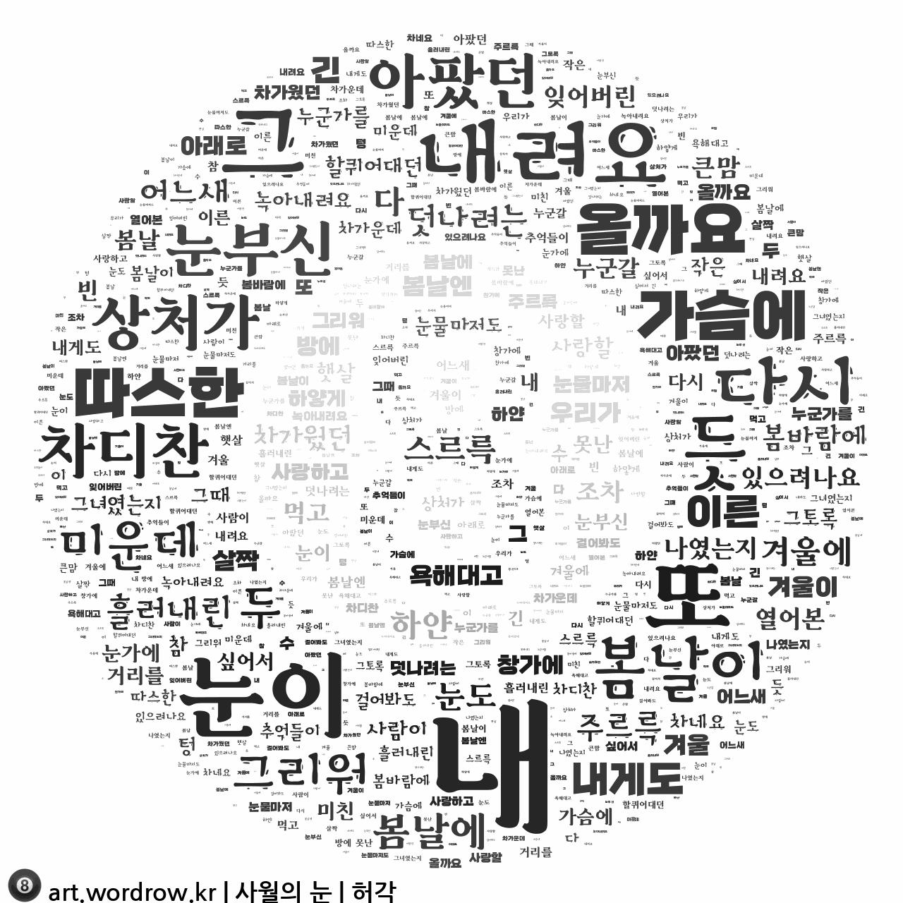 워드 클라우드: 사월의 눈 [허각]-1